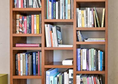 Bookshelf in nut